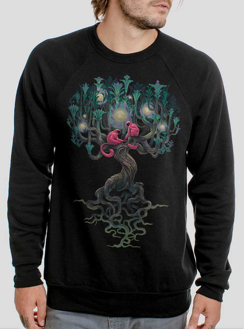 Pink Monkeys - Multicolor on Black Men's Sweatshirt