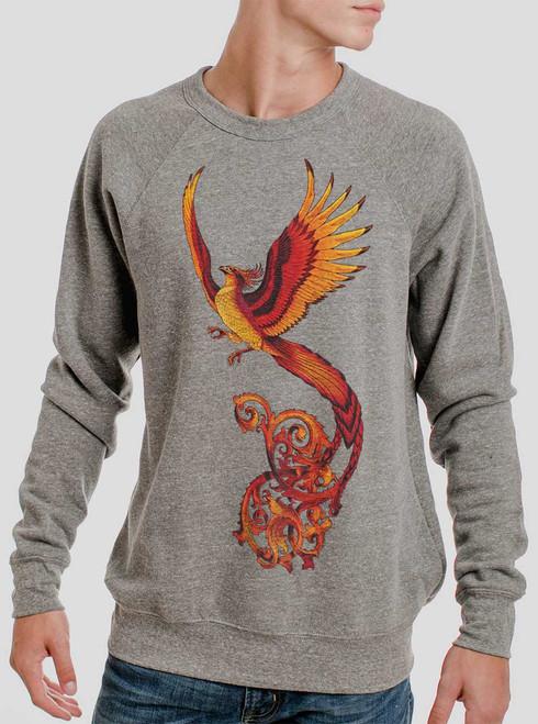 Phoenix - Multicolor on Heather Grey Triblend Men's Sweatshirt