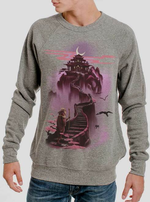 Ascending - Multicolor on Heather Grey Triblend Men's Sweatshirt