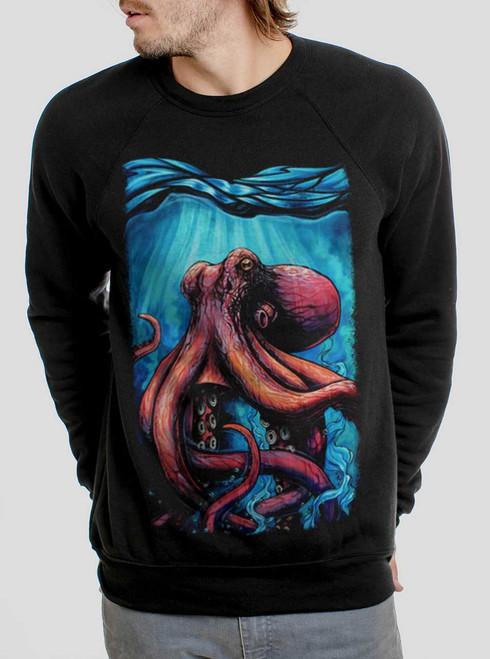 Octo - Multicolor on Black Men's Sweatshirt