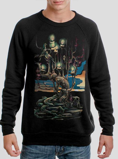 Mourning - Multicolor on Black Men's Sweatshirt