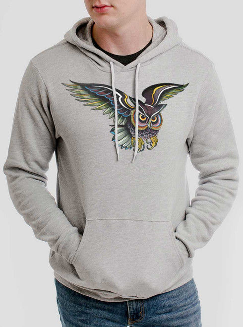 Little Owl - Multicolor on Athletic Heather Men's Pullover Hoodie