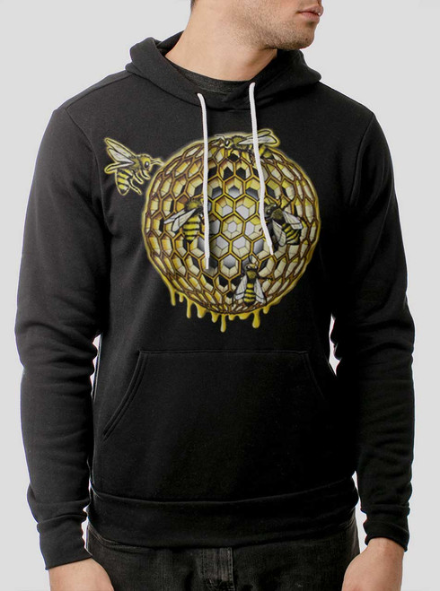 Honeycomb - Multicolor on Black Men's Pullover Hoodie