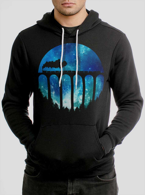 Night Train - Multicolor on Black Men's Pullover Hoodie