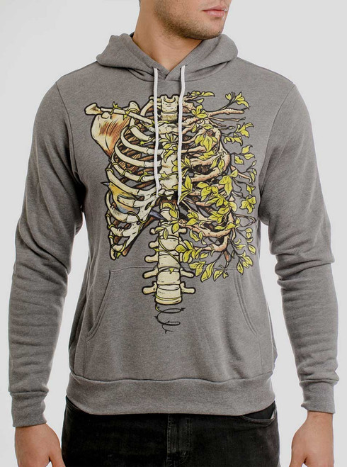 Ribs - Multicolor on Heather Grey Men's Pullover Hoodie