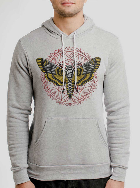 Death Head - Multicolor on Athletic Heather Men's Pullover Hoodie