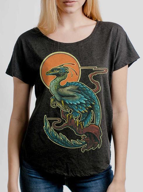 Evolve - Multicolor on Heather Black Triblend Womens Dolman T Shirt
