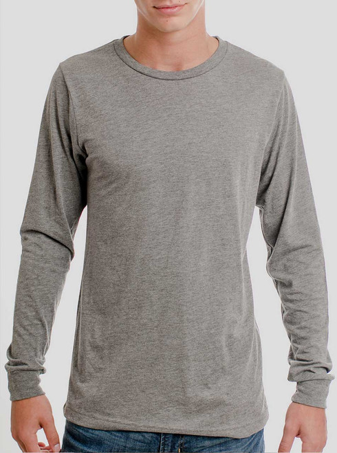 Heather Grey Triblend - Blank Men's Long Sleeve Shirt