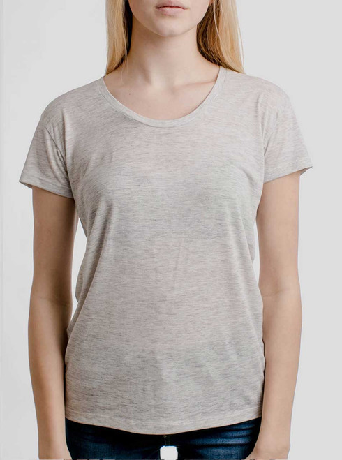 Heather Oatmeal - Blank Women's Relaxed Fit T Shirt