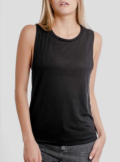 Black - Blank Women's Muscle Tank Top