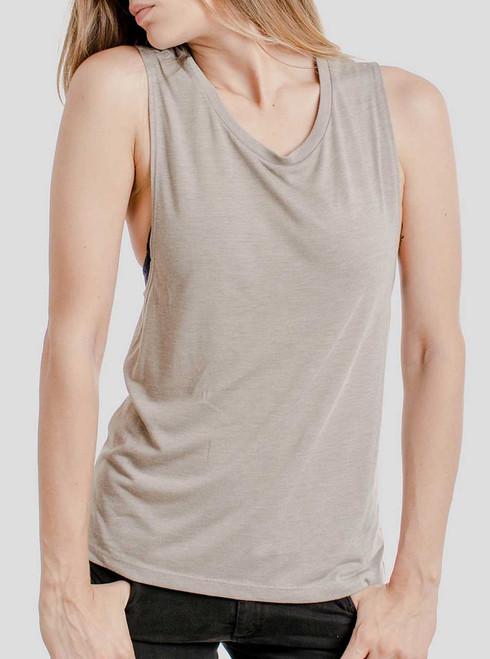 Heather Stone - Blank Women's Muscle Tank Top