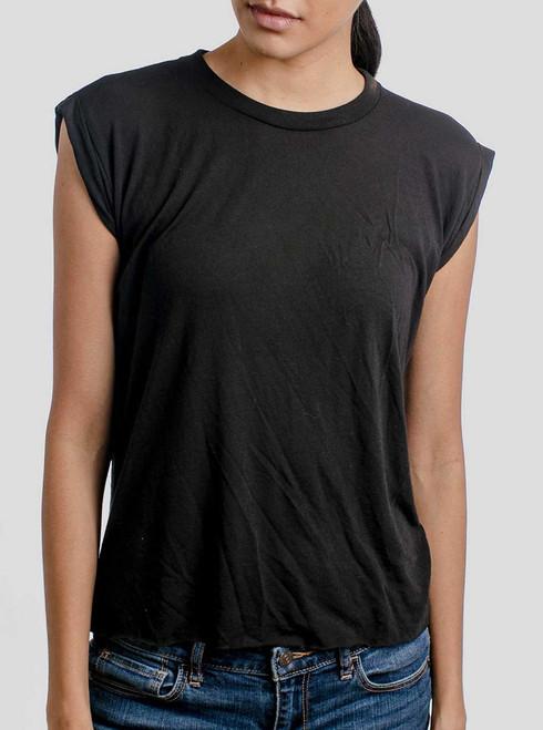 Black - Blank Women's Rolled Cuff Shirt
