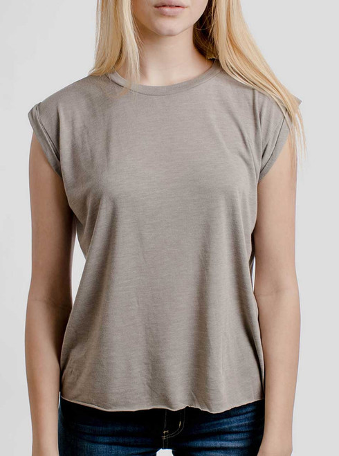 Heather Stone - Blank Women's Rolled Cuff Shirt