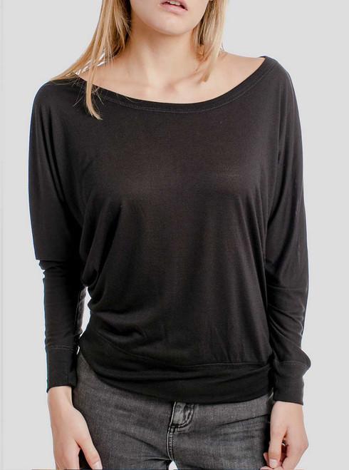 Black - Blank Women's Long Sleeve Dolman