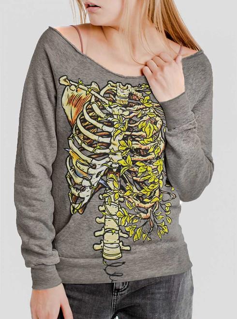 Ribs - Multicolor on Grey Triblend Women's Maniac Sweatshirt