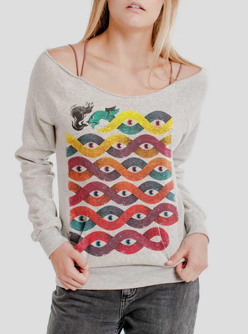 Wyrm - Multicolor on Oatmeal Triblend Women's Maniac Sweatshirt