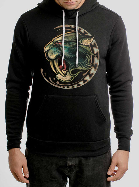 Sabertooth - Multicolor on Black Men's Pullover Hoodie