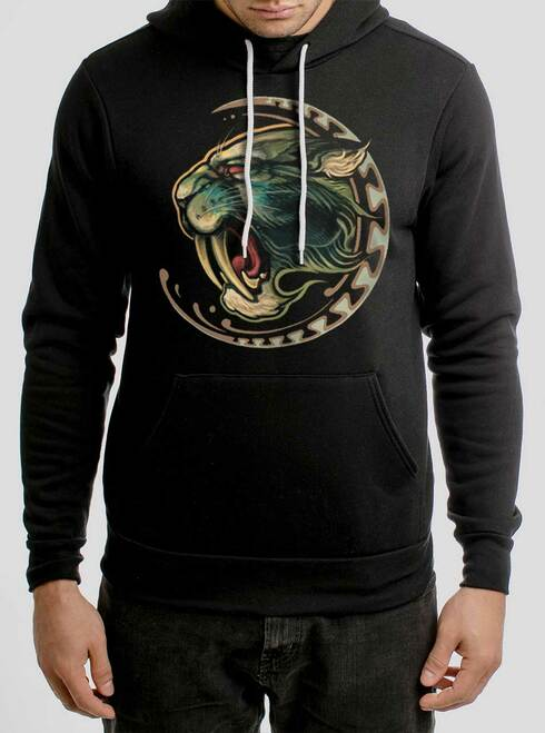 Sabertooth - Multicolor on Black Men's Pullover Hoodie