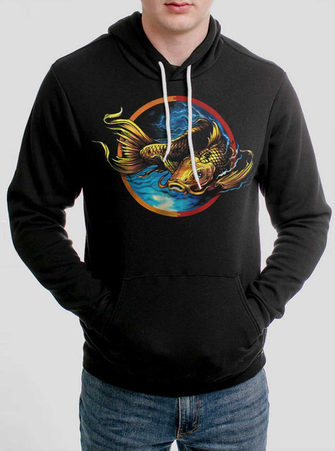 Upstream - Multicolor on Black Men's Pullover Hoodie