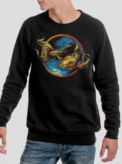 Upstream - Multicolor on Black Men's Sweatshirt