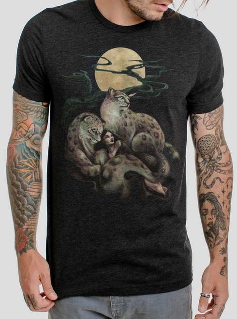 Creature Comfort - Multicolor on Heather Black Triblend Mens T Shirt
