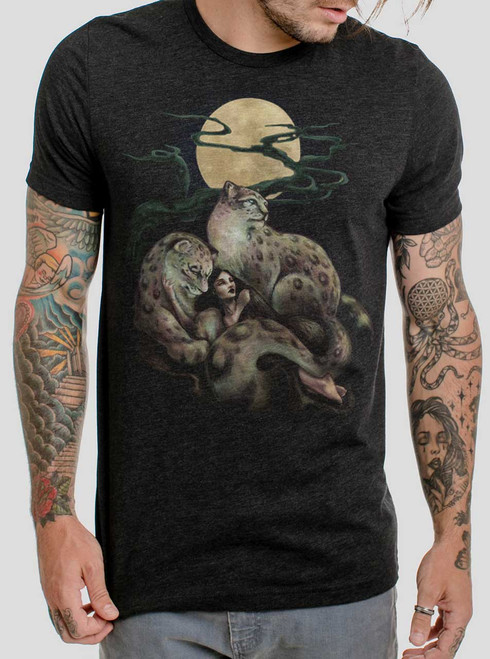 Creature Comfort - Multicolor on Heather Black Triblend Mens T Shirt