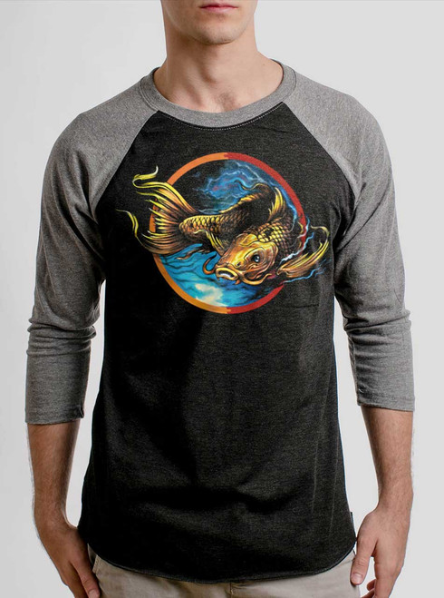 Upstream - Multicolor on Heather Black and Grey Triblend Raglan