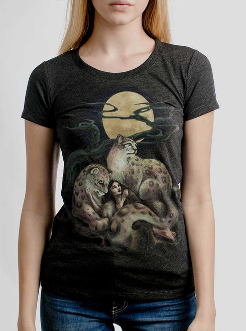 Creature Comfort - Multicolor on Heather Black Triblend Womens T-Shirt