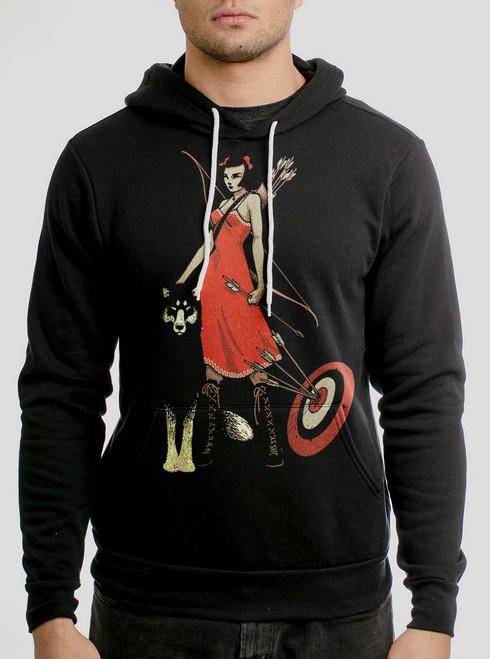 Huntress - Multicolor on Black Men's Pullover Hoodie