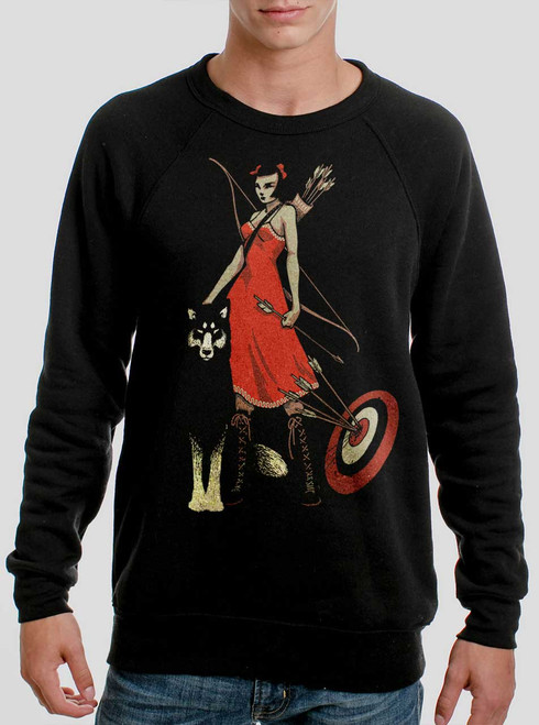 Huntress - Multicolor on Black Men's Sweatshirt
