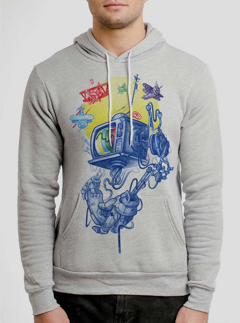 Controller - Multicolor on Athletic Heather Men's Pullover Hoodie