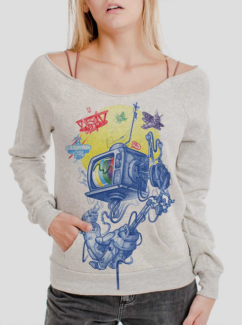 Controller - Multicolor on Oatmeal Triblend Women's Maniac Sweatshirt