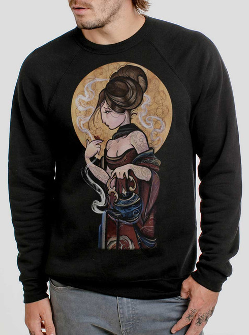 Moonlight Lady - Multicolor on Black Men's Sweatshirt