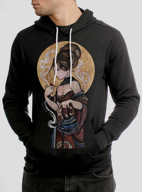 Moonlight Lady - Multicolor on Black Men's Pullover Hoodie