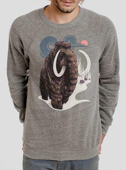 Mammoth - Multicolor on Heather Grey Triblend Men's Sweatshirt