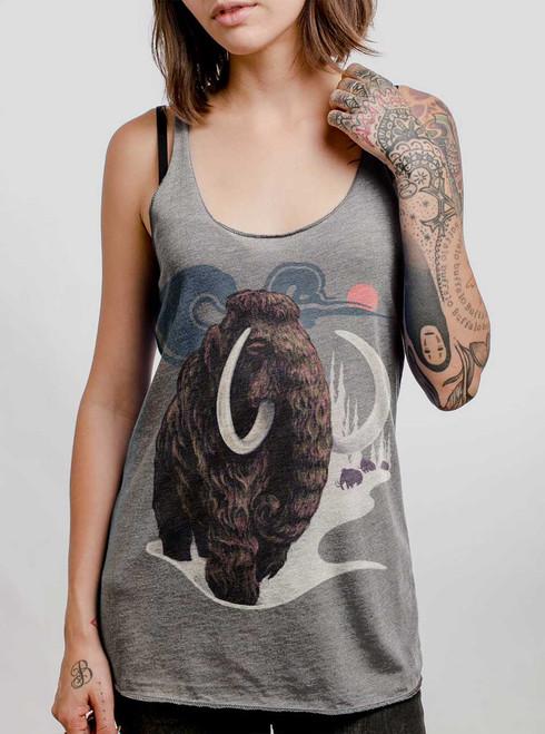 Mammoth - Multicolor on Heather Grey Triblend Women's Racerback Tank Top