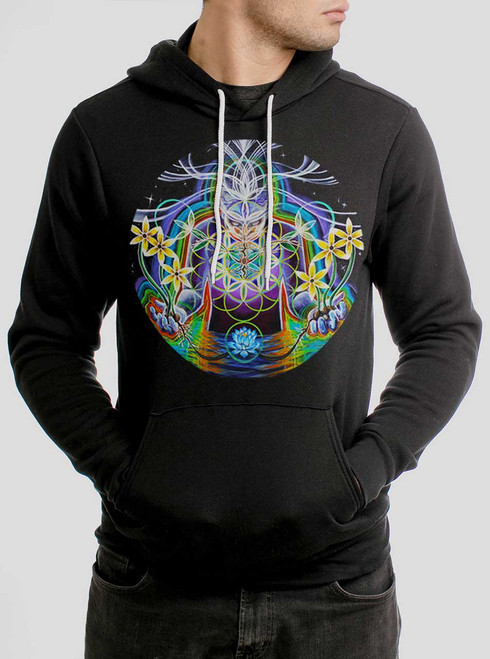Seeds of Life - Multicolor on Black Men's Pullover Hoodie
