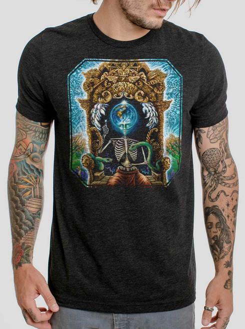 Samsara - Multicolor on Heather Black Triblend Mens T Shirt
