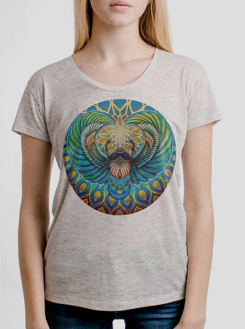 Scarab - Multicolor on Heather Oatmeal Women's Relaxed Fit T Shirt
