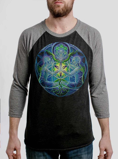Divine Unification - Multicolor on Heather Black and Grey Triblend Raglan