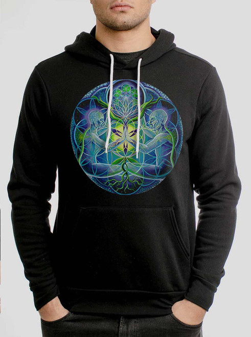 Divine Unification - Multicolor on Black Men's Pullover Hoodie
