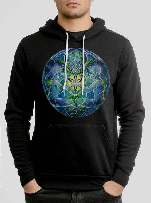 Divine Unification - Multicolor on Black Men's Pullover Hoodie