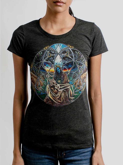 Trinity - Multicolor on Heather Black Triblend Womens T-Shirt
