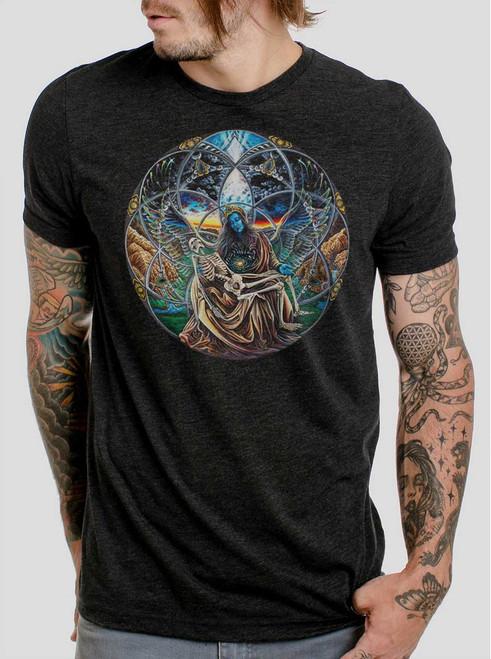 Trinity - Multicolor on Heather Black Triblend Mens T Shirt