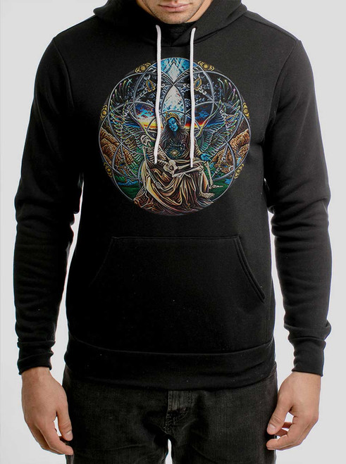 Trinity - Multicolor on Black Men's Pullover Hoodie
