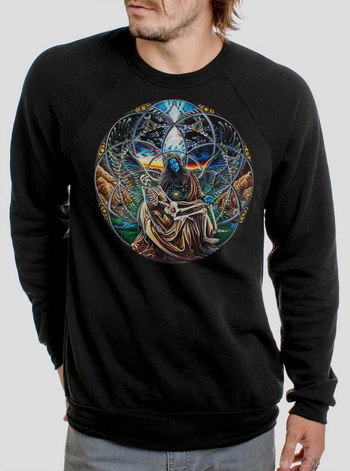Trinity - Multicolor on Black Men's Sweatshirt