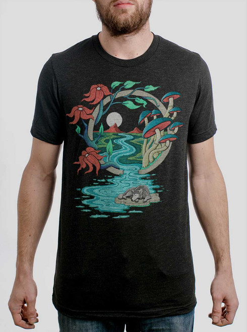Spirit Guide - Multicolor on Heather Black Triblend Mens T Shirt