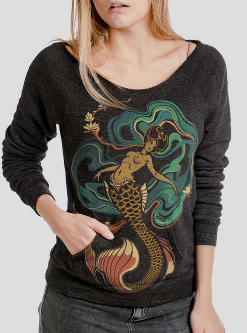 Mermaid - Multicolor on Charcoal Triblend Women's Maniac Sweatshirt