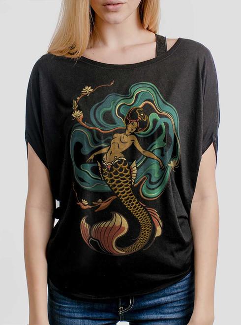 Mermaid - Multicolor on Black Women's Circle Top