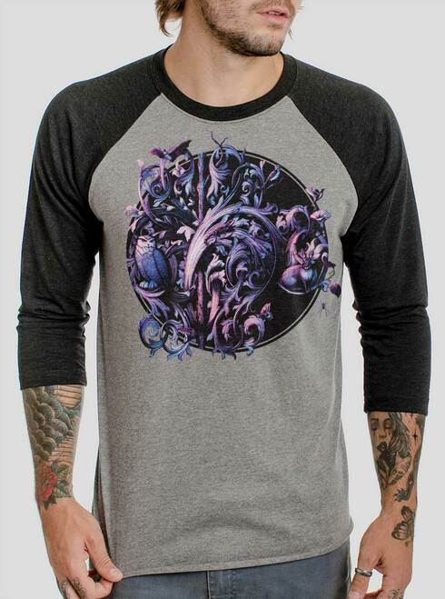 Dawn of the Infinite - Multicolor on Heather Grey and Black Triblend Raglan